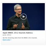 แอปเปิลเปิดให้ดาวน์โหลดวิดีโอ Keynote งาน WWDC 2012 แล้ว