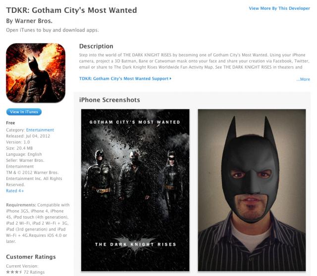 Batman The Dark Knight Rises Three-Fourth Bane Mask