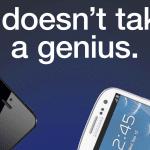 """ซัมซุงออกโฆษณาใหม่แซะ iPhone 5 บอก """"ไม่ต้องอัจฉริยะก็รู้ว่าใครเจ๋งกว่า"""""""