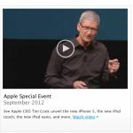 รวม Link สำหรับดาวน์โหลดวิดีโองานเปิดตัว iPhone 5