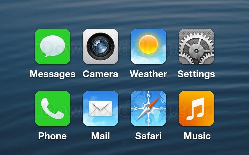 iOS 7 icon Mockup