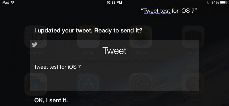 Tweet in iOS 7