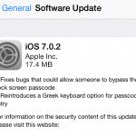 Apple ออกอัพเดท iOS 7.0.2 แก้ปัญหาระบบความปลอดภัยในหน้า Lock Screen