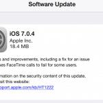 แอปเปิลออกอัพเดท iOS 7.0.4 แล้ว แก้ปัญหา Facetime Call
