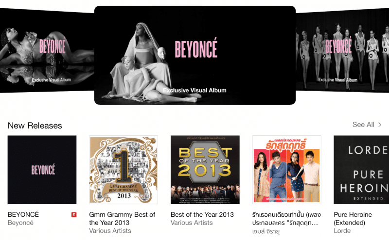 BEYONCÉ iTunes Store