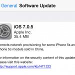 แอปเปิลออกอัพเดท iOS 7.0.5 แก้ปัญหาเน็ตเวิร์คสำหรับ iPhone 5s, 5c ในจีน