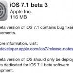แอปเปิลออกอัพเดท iOS 7.1 Beta 3 ให้นักพัฒนาแล้ว