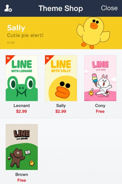 LINE Theme Store
