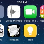 หลุดหน้าจอ iOS 8 โชว์ไอคอนแอพใหม่ Healthbook, Preview, TextEdit