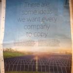 """Apple ลงโฆษณาในหนังสือพิมพ์เรื่องสิ่งแวดล้อม: """"มีไอเดียบางอย่างที่เราอยากให้ทุกบริษัทลอกไปใช้"""""""