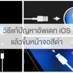 วิธีแก้ปัญหาอัพเดท iOS แล้วขึ้นหน้าจอให้เสียบสายกับ iTunes