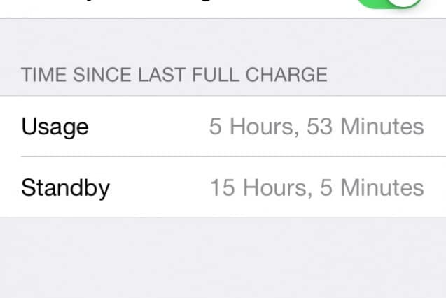 Usage and Standby