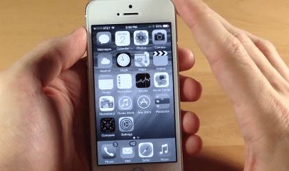 iOS 8 grayscale