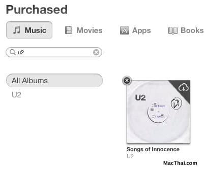 วิธีลบอัลบั้มเพลง Songs of Innocence ของ U2 ที่อยู่ดีๆ ก็มา