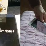 พบ Galaxy Note 4 มีช่องว่างตรงขอบจอใหญ่พอให้เสียบบัตรได้ Samsung บอกมันเป็นฟีเจอร์