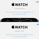 Apple เปลี่ยนหน้าเว็บ Apple Watch ในยุโรปบางประเทศ บอกวางขายต้นปี 2015