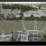 Apple ทำภาพเคลื่อนไหวในโหมด Flyover เริ่มที่ Big Ben กับ London Eyes