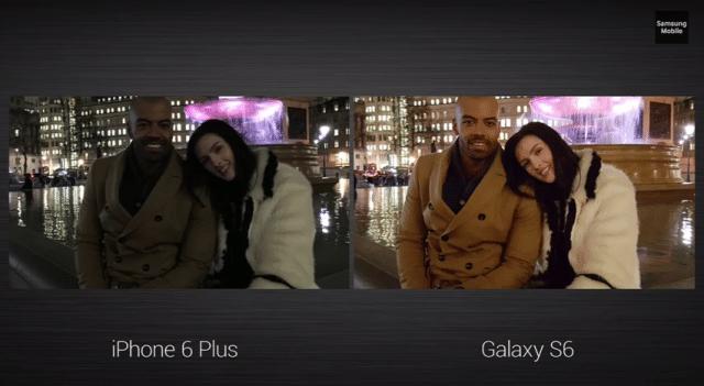 ภาพเปรียบเทียบจากกล้อง iPhone 6 กับ Galaxy S6 โดยซัมซุง
