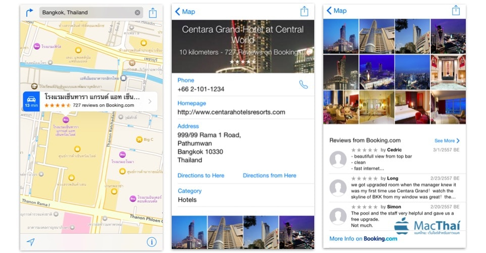 apple-maps-show-hotel-detail-review-from-booking-tripadvisor-support-thailand
