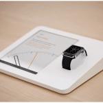 เผยแท่นตั้งโชว์ Apple Watch ใน Apple Store ใช้พอร์ตพิเศษส่งข้อมูลให้ iPad เพื่อแสดงข้อมูล