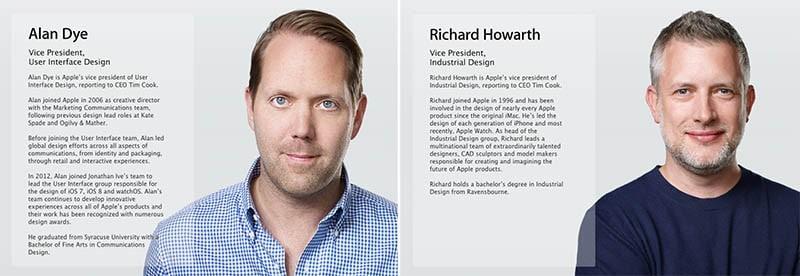 Dye-Howarth-Apple-PR-Bios