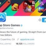 Apple เปิดบัญชีทวิตเตอร์ @AppStoreGames ใช้โปรโมตเกมบน App Store โดยเฉพาะ