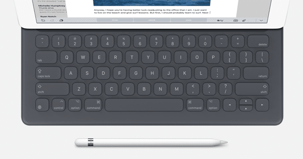 smart keyboard apple pencil