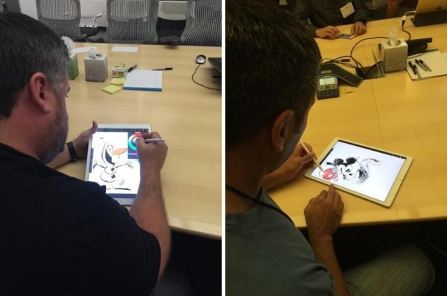 disney-artists-ipad-pro-hands-on