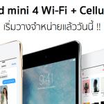 iPad mini 4 Wi-Fi + Cellular เปิดขายแล้ว ที่ Apple online ราคาเริ่มที่ 17,900 บาท