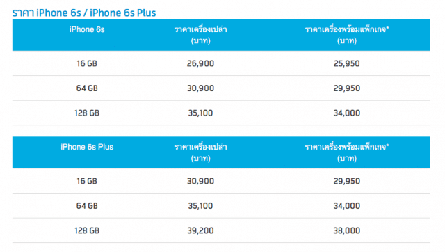 iphone 6s price dtac