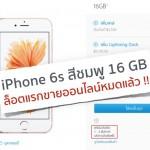 iPhone 6s สีชมพู 16 GB ที่ Apple online ล็อตแรกขายหมดเกลี้ยง สั่งตอนนี้รอ 1-2 สัปดาห์