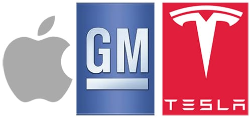 Apple-GM-Tesla