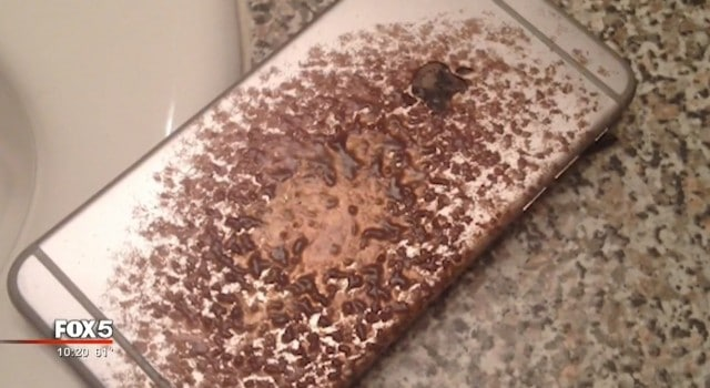 iPhone 6 Plus Catches Fire While Charging on Bed -2