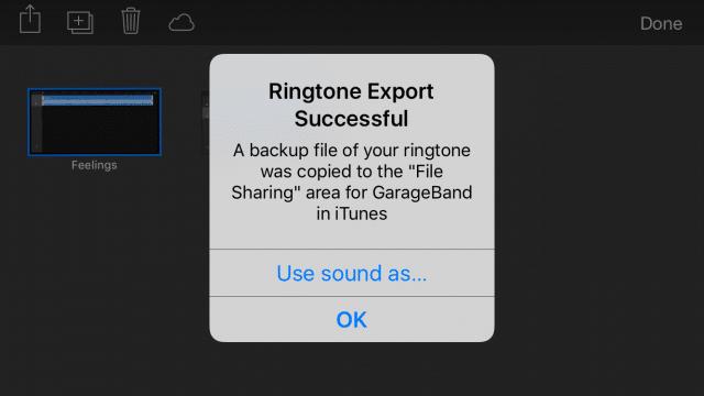 Ringtone GarageBand iOS-12