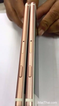 iphone 6s rose gold different shade thailand-3