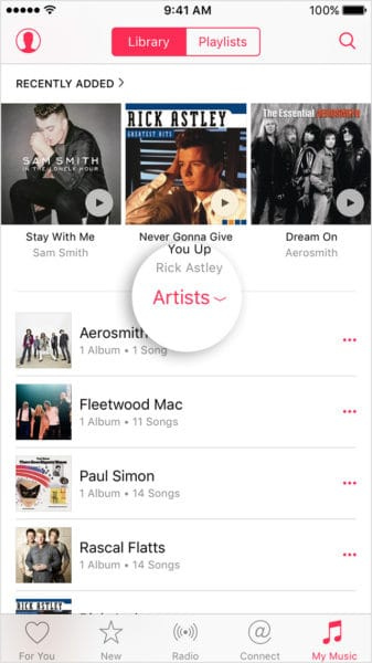 iphone6-ios9-apple-music-my-music-playlists
