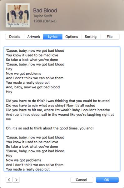itunes-lyrics