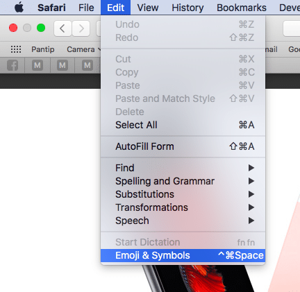 how to insert emoji symbols mac osx1