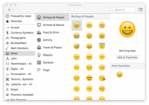 how to insert emoji symbols mac osx5