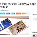 ผลทดสอบความเร็ว Samsung Galaxy S7 Edge ยังคงแพ้ iPhone 6s Plus ในการใช้งานจริง [ชมคลิป]
