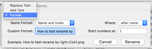 How to fast rename by right click8