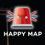 รีวิว HappyMap แอพสุดเจ๋ง แจ้งเตือนเหตุร้ายใกล้บ้านคุณ รถชน, ขโมย, วัยรุ่นมั่วสุม โหลดไว้อุ่นใจ