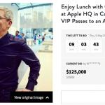 เปิดประมูล ทานข้าวกับ Tim Cook และผู้บริหาร ตอนนี้มูลค่าสูงถึง $125,000 แล้ว