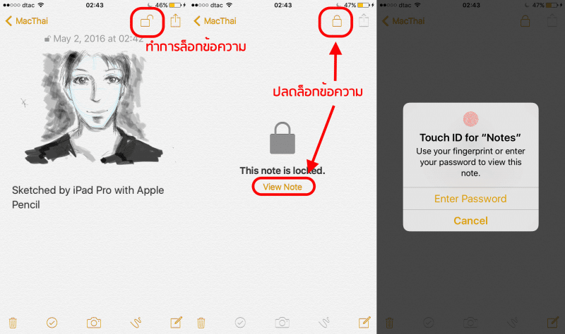 Tips_Lock Notes iOS OSX4