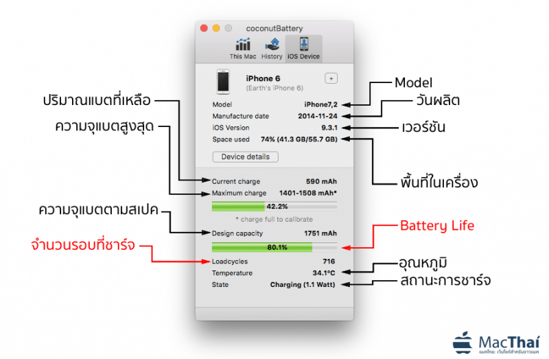 how to check battery life iPhone iPad macbook using coconutbattery-2