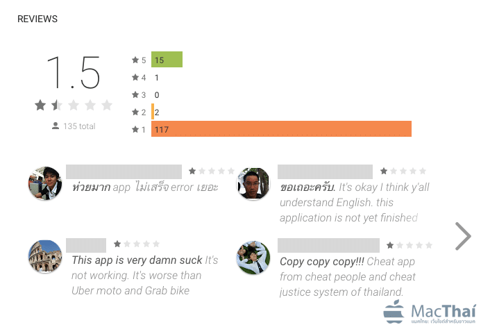 review 1 star gobike android