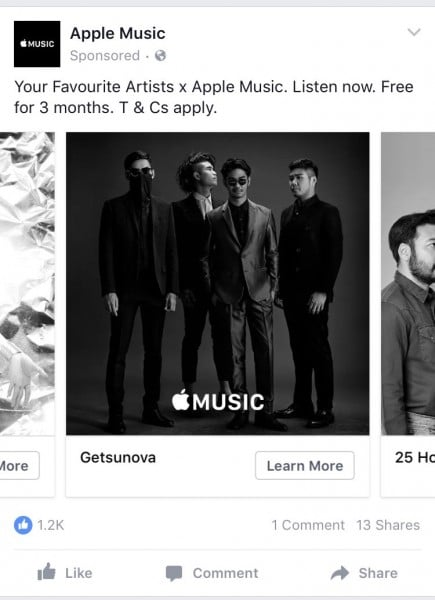 apple-music-ads-on-facebook-featured-artists