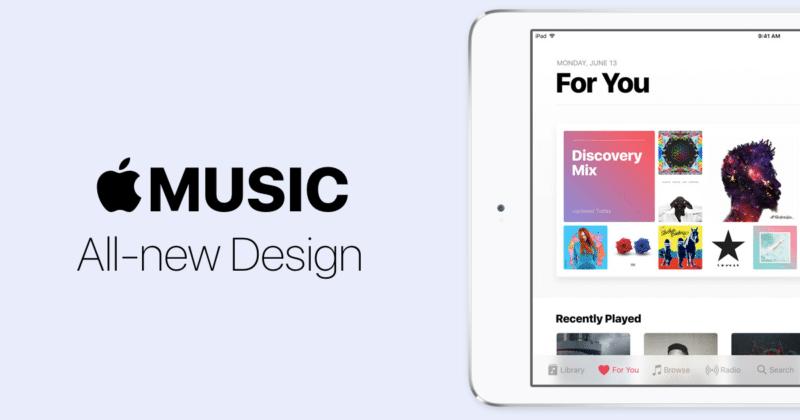 apple music all new design