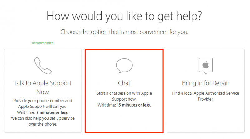 how to contact apple support th