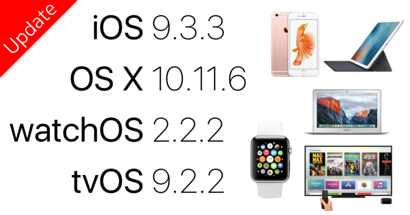 ios 9 osx watchos tvos